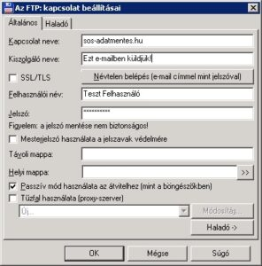FTP kapcsolat beállítása total commanderrel